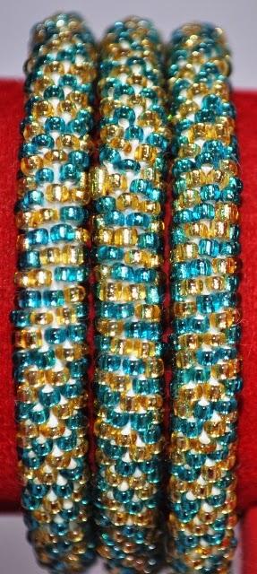 Rollover Bracelets Green Stripe
