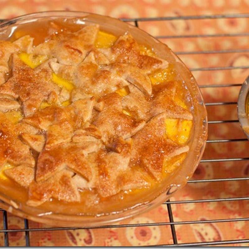 Peach coriander pie