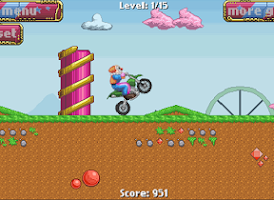 Screenshot of Clown Race 2 - Motorcross game