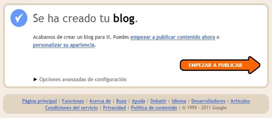 Se ha creado tu blog