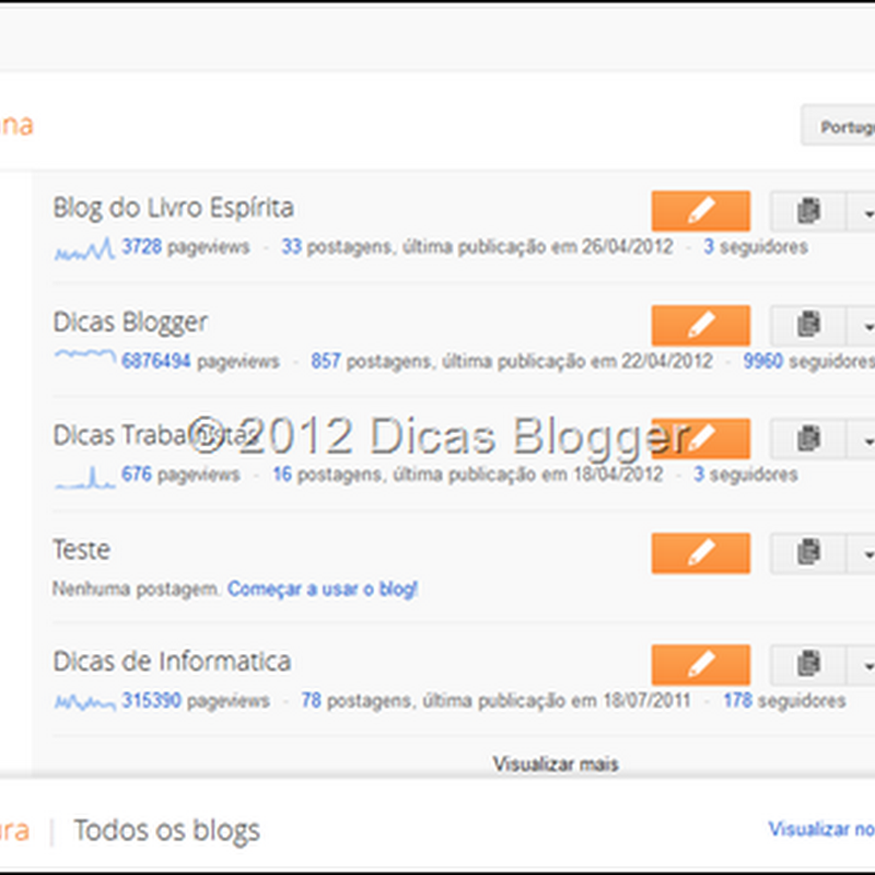 Como usar a nova interface do Blogger