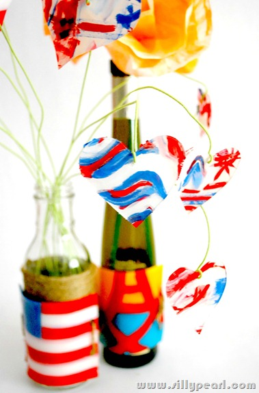 Shrink Plastic Patriotic Bottle Art