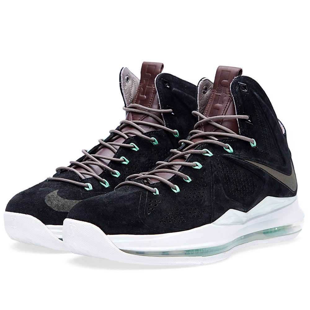 Release Reminder Nike LeBron X EXT Black Suede Mint ...
