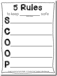 Don't let your child get SCOOPED up by a stranger- A freebie from Teacher to the Core