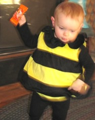 10.30.2011 Bella Halloween bumble bee trick or treating7