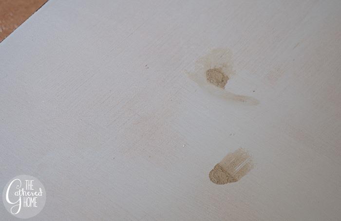 wood filler over screw heads