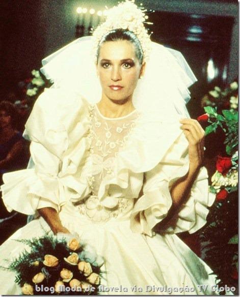 moda da novela cambalacho - vestido de noiva da andréia