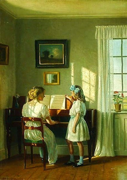 The Piano Lesson Karl Harald Alfred Broge