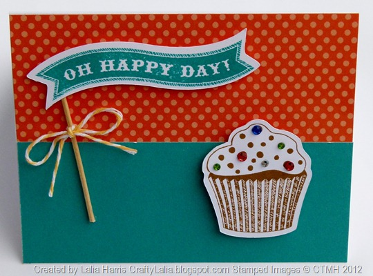 Oh happy day card with CTMH Artiste Cricut Cartridge