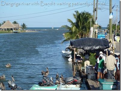 Dangriga, with Bandit anchored