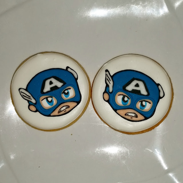 chibi captain america cookies