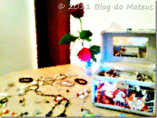 Luxúria jóias, rosa, flores, anéis, brincos...