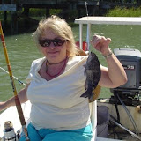 Cindy fishing.