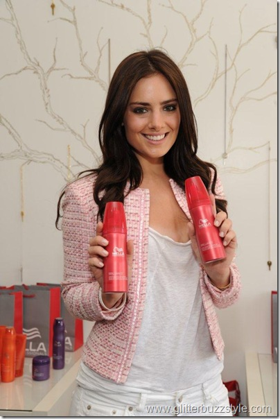 Beau Dunn  with Wella products