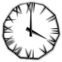 Black Icicle Clock icon
