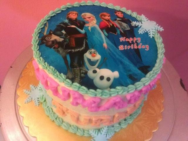 Edible Image Cake Kl : Just Lildaisy ( Ampang ): Frozen theme cake