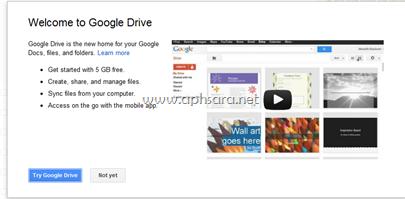 การฝากไฟล์ใน google drive