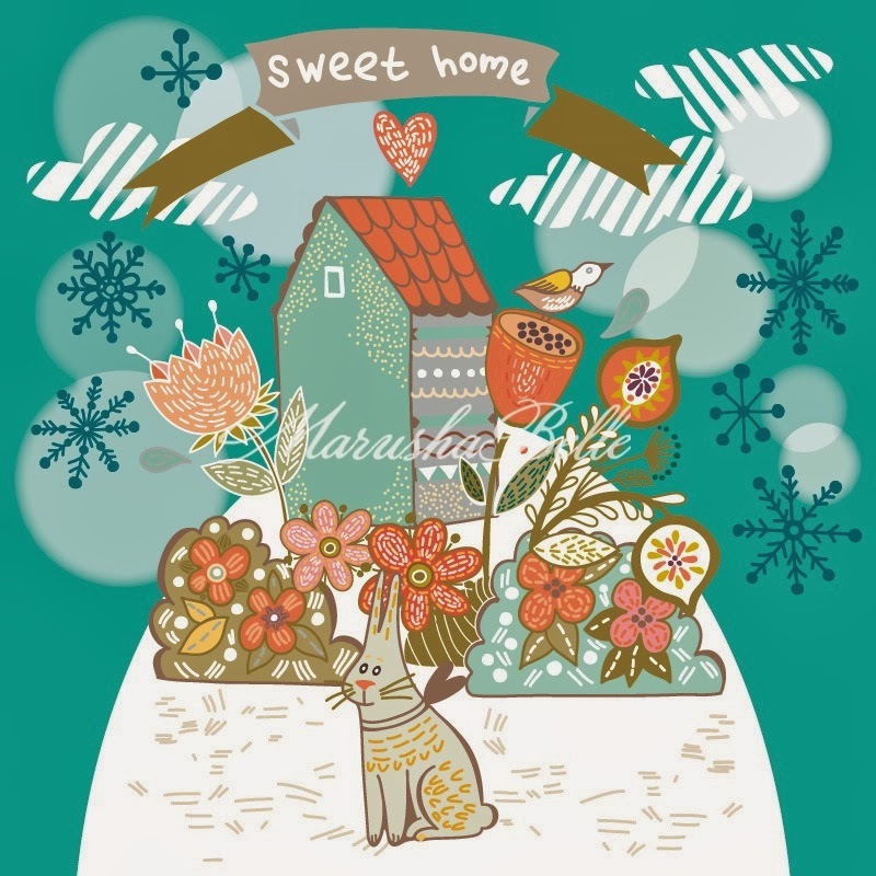 Sweet home bunny winter