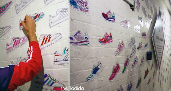 The Iconic x Adidas - Launch in Sydney - Colour in Sneaker Wall (2)