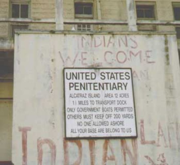 Sign at Alcatraz