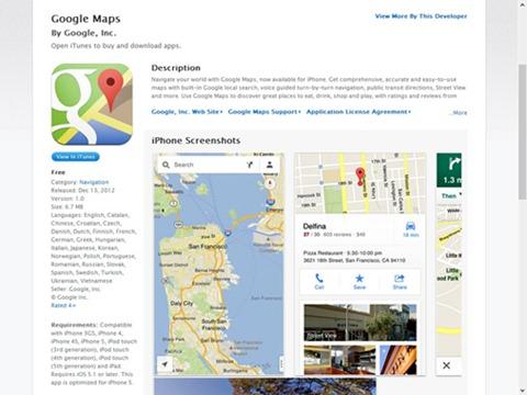 El inmiente regreso Google Maps a iOS