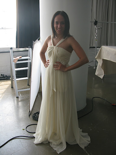 Melissa, associate fashion editor, looks wedding ready in a third option.