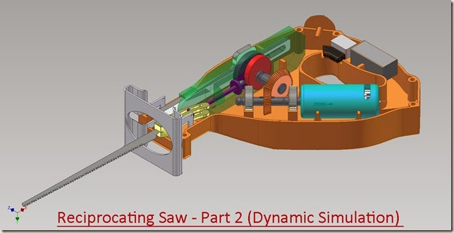 Reciprocating Saw Dynamic Simulation - Part 2