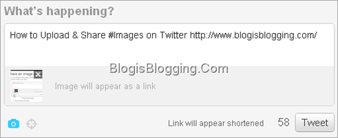 Tweet Box Appearance After Uploading An Image