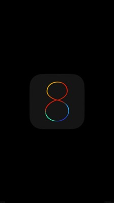 Ios8 logo iphone6 wallpaper