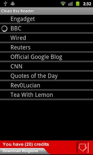 CLEAN RSS