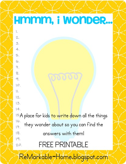 Wondering List Printable via ReMarkable Home copy