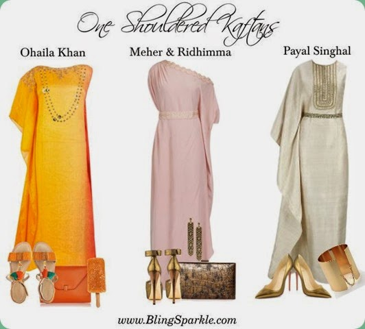 one shouldered Kaftans