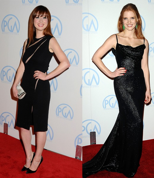 Ellie Kemper and Jessica Chastain