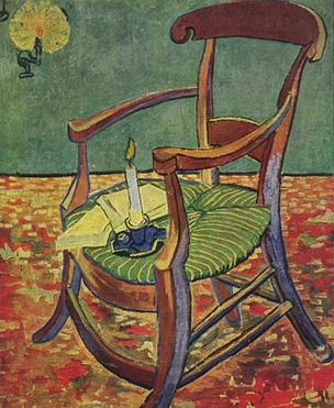 paul gauguins armchair vangogh