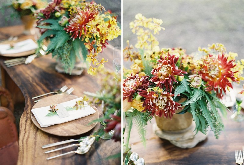 12OakandtheOwl_Rustic Floral Centerpieces