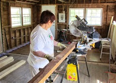1407109 July 05 Barb Cutting Wood