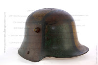 German Stahlhelm wiht excellent camouflage