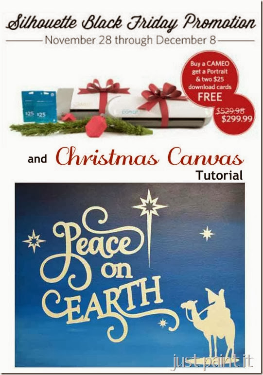 Silhouette Deals and Christmas Canvas Tutorial
