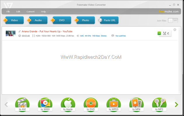 Freemake Video Converter 2013 - MainMenu