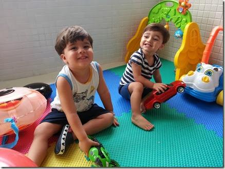 Guga e Bruno - netos de Elielzinho