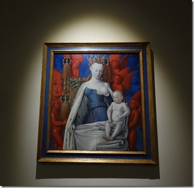 Rockoxhuis ロコックスハウス(美術館)『ムランの聖母子』Jean Fouquet ジャン・フーケ(1450年頃) アントワープ王立美術館より Madonna surrounded by Seraphim and Cherubim<br />Jean Fouquet<br />(Tours 1420 – 1471)