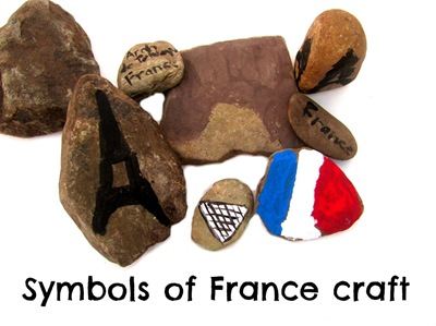Montessori Tidbits:  Symbols of France rock craft
