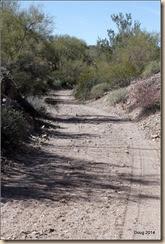 Long walk toward the mine.