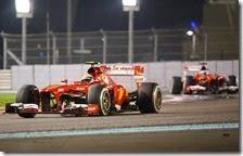 Massa davanti ad Alonso nel gran premio di Abu Dhabi 2013