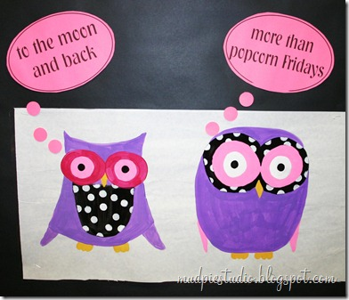 Valentine Teacher Appreciation Bulletin Board #school #classroom #owl