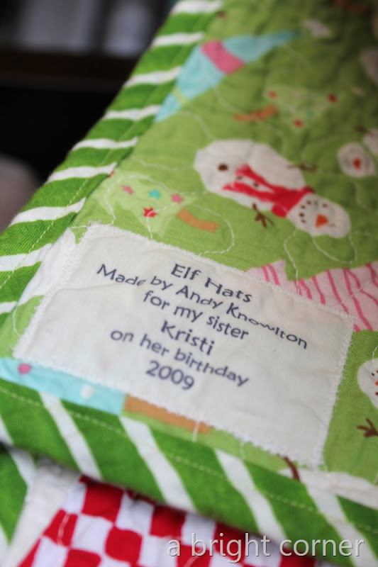 elf hats label