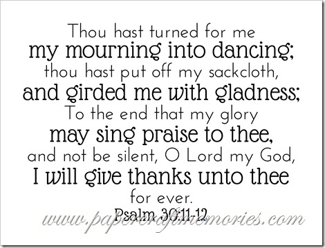 Psalm 30:11-12 WORDart by Karen for WAW for personal use