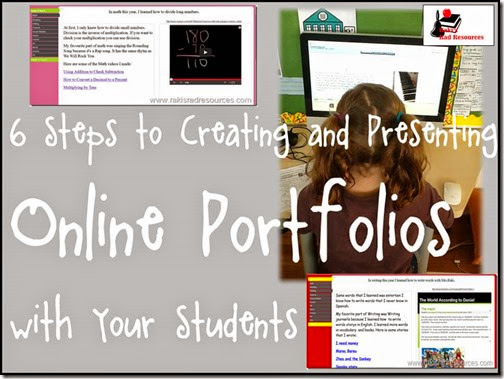 6 Steps to Creating and Presenting Online Portfolios - Online Portfolios - Steps and Directions from Raki's Rad Resource