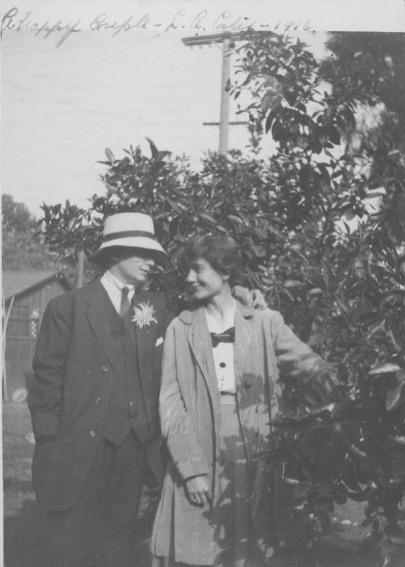 Dorothy Putnam and friend playing the happy couple. 1916.