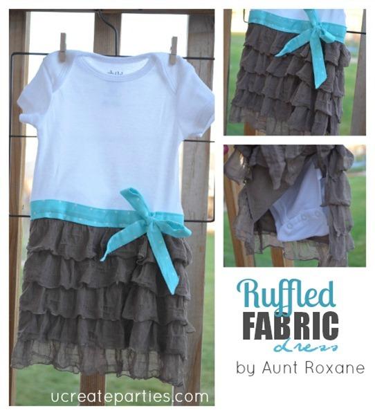Ruffle Fabric Onesie ucreateparties.com